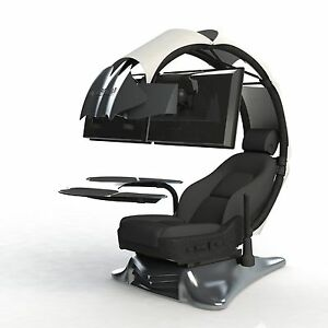 Image is loading Droian-Ergonomic-Chair -Gamer-Computer-Workstation-Leather-Seat  sc 1 st  eBay & Droian Ergonomic Chair Gamer Computer Workstation Leather Seat | eBay