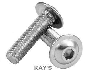8mm Flange Bolt Allen Key M8 A2 Stainless Flanged Socket Button Head Screws