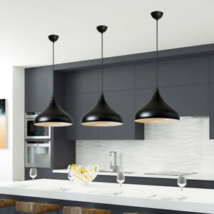 3X-Black-Lamp-Bar-Pendant-Light-Kitchen-Chandelier-Lighting-Room-Ceiling-Lights