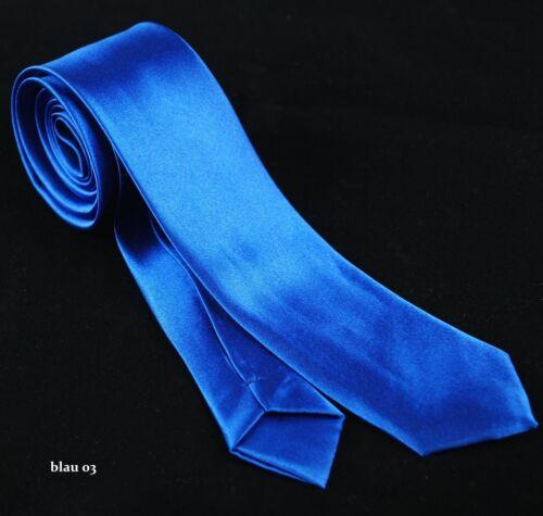 Krawatte Geschäftskrawatte Business Schmale Krawatte uni-sex 27 Farben