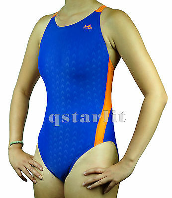 Girls Junior Women Female  Racing Competition Fast Skin Splice Swimsuit 22 to 36