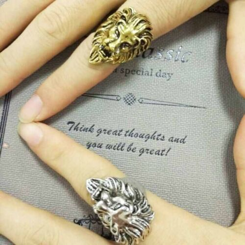 Acier inoxydable New Lion/'s Head Ring Bague Vintage Cool Fashion hommes American
