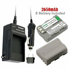 2x Kastar Battery and 1x Normal Charger for Nikon EN-EL3e