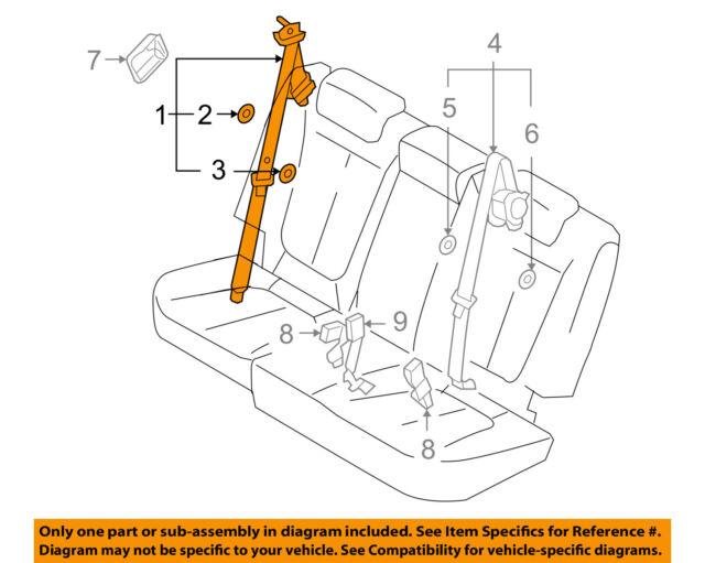 hyundai oem 10 12 santa fe rear seat belt outer belt assembly right rh ebay com hyundai seat belt replacement cost hyundai elantra seat belt replacement