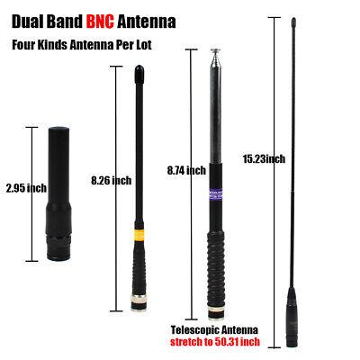 BNC Male Dual Band Antenna Uniden BC125AT BC75XLT BC95XLT BC125AT Scanner Radio