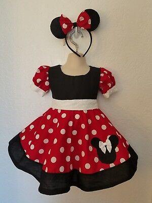 #23 Handmade Shirley Temple Polka Dot Halloween////costume//dress sz 6mo-10Y