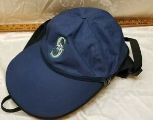 Mariners Baseball Backpack players pack bag MLB Very Rare Hat Cap