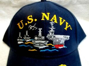 US-Navy-Ships-and-a-Plane-High-Quality-Ball-Cap-amp-Free-Flag-T-Shirt