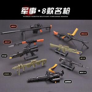 1-6-Scale-Gatling-Barrett-AK47-MG42-Gun-Assemble-Model-Puzzle-Brick-Gun-Model