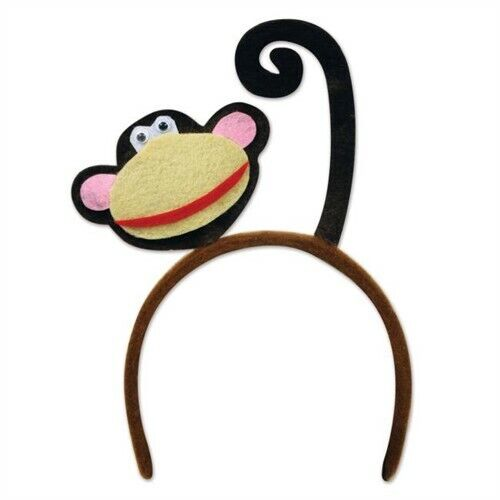 Monkey bandeau enfant taille Safari Jungle Zoo Fête D/'anniversaire Favors