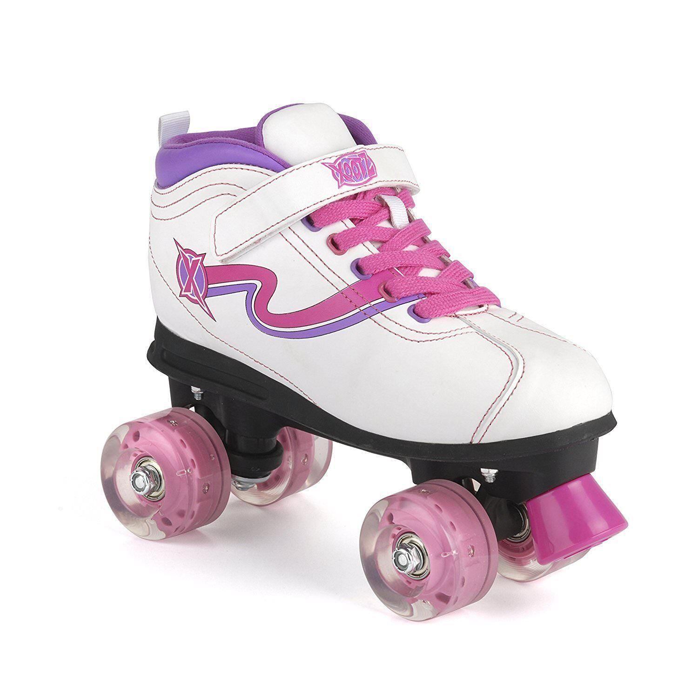 Xootz Xootz Xootz Disco LED Light Up Wheels Retro Quad Roller Skates Größe 11 12 13 1 2 3 4 5 1786ae