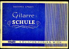 Gitarrenschule -- Giuseppe Sponti -- von 1946 --