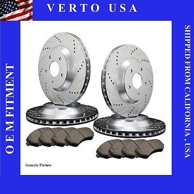 2005 2006 2007 2008-2010 Ford Mustang V6 Front Rear Brake Rotors Ceramic Pad