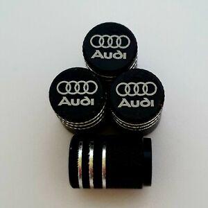 AUDI-LASER-Ruota-della-valvola-Polvere-Tappi-tutti-i-modelli-BLK-S-line-RS-S3-S5-RS3-RS4-RS5-RS6