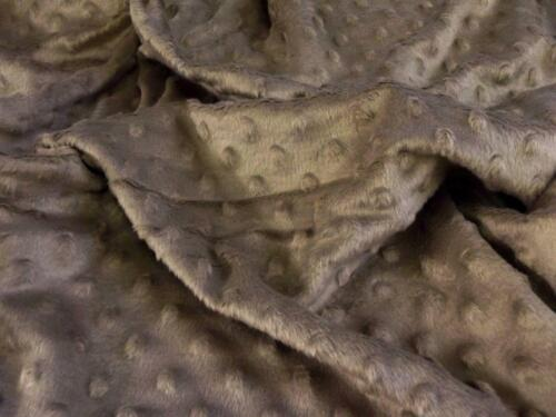 Luxury Supersoft DIMPLE Cuddle Soft Fleece Fabric Material TAN