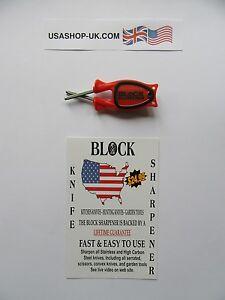 """Blocco AFFILA COLTELLI """"semplice ma funziona!"""" Made in USA. @ £ 9.75 * consegna gratuita  </span>"""
