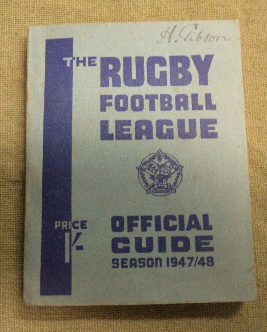 D336. 1947   1948 GREAT BRITAIN  RUGBY LEAGUE  GUIDE  BOOK