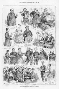 1884-FINE-ART-Antique-Print-Village-Entertainment-Illustrations-Atkinson-205