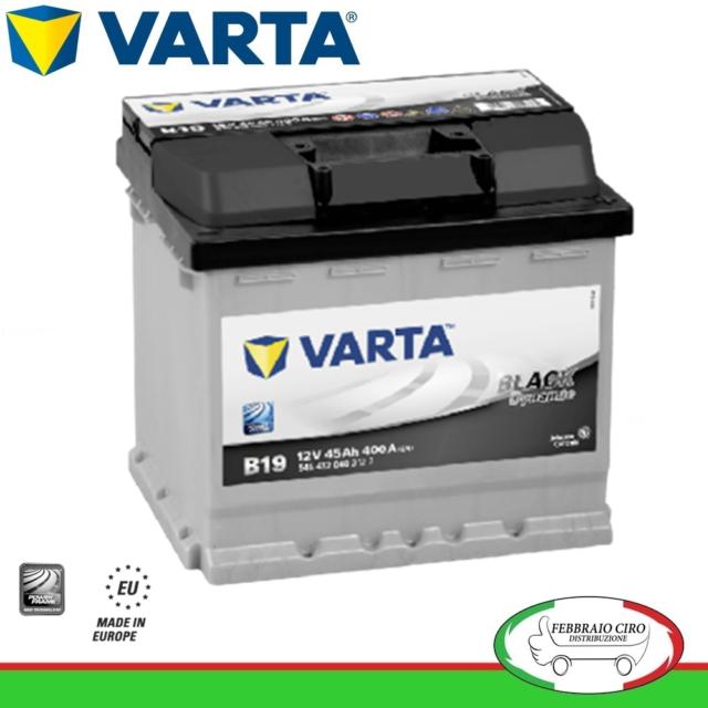 Batteria Avviamento Batteria Varta 45Ah 12V Black Dynamic B19 545 412 040