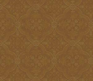 Golden-Brown-Rounded-Diamond-Shape-Damask-Medallion-Wallpaper-QT19465