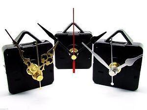 Replacement-Quartz-Clock-Movement-Mechanism-Motor-amp-Metal-Hands-amp-Fittings-DIY