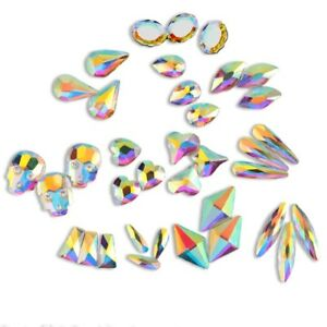 20-50-100pcs-3D-Nail-Art-Rhinestones-Flat-Shaped-Elongated-Glass-Colorful-Stones