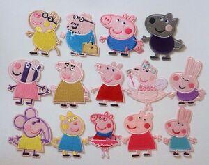 Details About écusson Patch Thermocollant Cochon Peppa Pig Cartoon Dessin Animé Au Choix