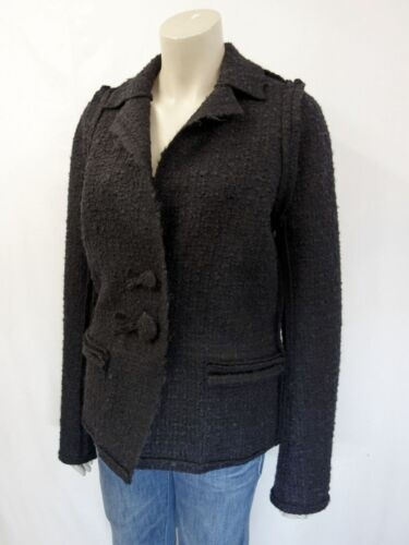 F42 40 Gr mix jas Blazer wol zwart Designer Lanvin Bouclé jas TWqw0UZP