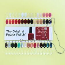 Creative CND Shellac Salon Shades Nail Tip Color Chart Palette Colour Sample