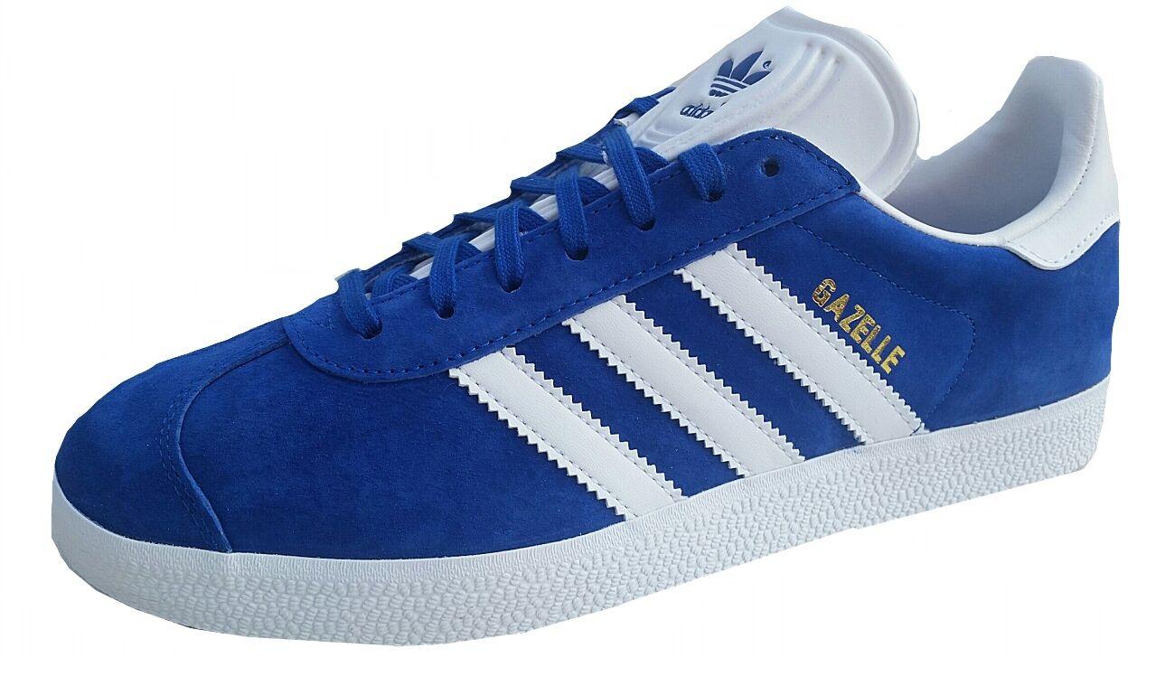 Adidas Mens Gazelle Originals trainer S76227 Royal Weiß UK 6.5-11uk LEATHER NEW