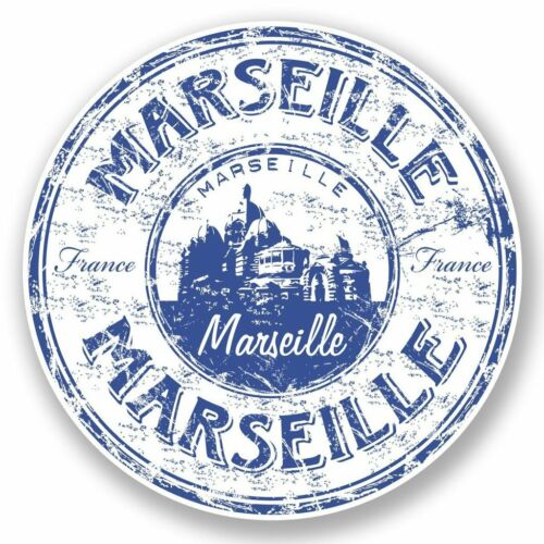 2 x Marseille France Vinyl Sticker Laptop Travel Luggage Car #5913