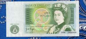 Great Britain 1978-80 1 Pound P 377a AUNC O8W Page 2 light folds as pictured