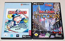 2 PC SPIELE SET - MONOPOLY 2 & MONOPOLY TYCOON - CD ROM