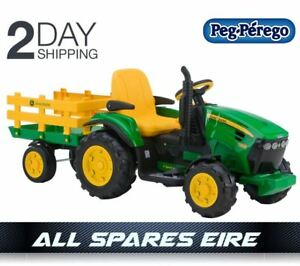 John Deere Ride On Toys >> Details About Peg Perego John Deere Ground Force 12v Ride On Toy Tractor Battery Electric Kids