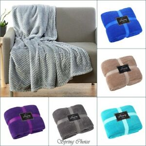 Details about NEW LUXURY POPCORN THROWS FLEECE WARM EXTRA LARGE SOFA  BLANKETS DOUBLE KING SIZE