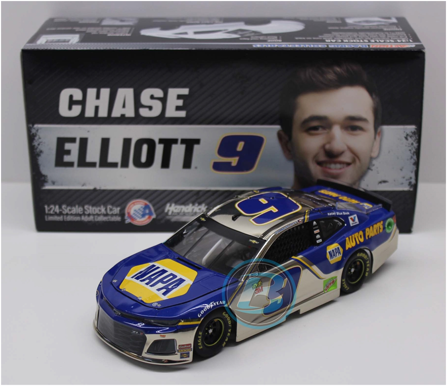 Nouveau NASCAR 2019 CHASE ELLIOTT  9 NAPA Auto Parts Couleur chrome 1 24 Diecast