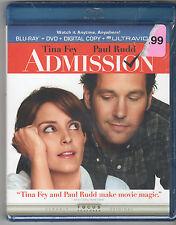 Admission (Blu-ray/DVD, 2013, 2-Disc Set), New, Sealed