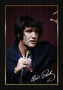 ELVIS PRESLEY - 1969 - SIGNED ORIGINAL A4 PHOTO PRINT MEMORABILIA