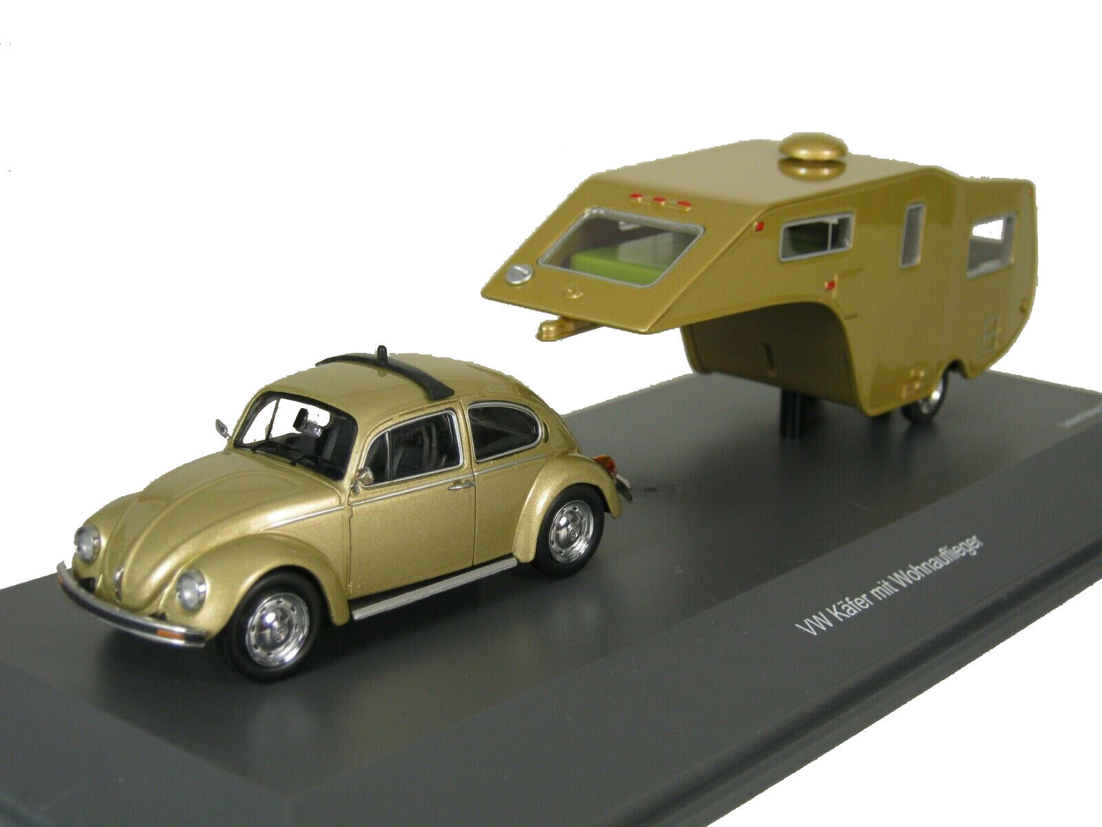 Schuco 1 43 Volkswagen 1200 con Remolque Cocheavana oro 450903800