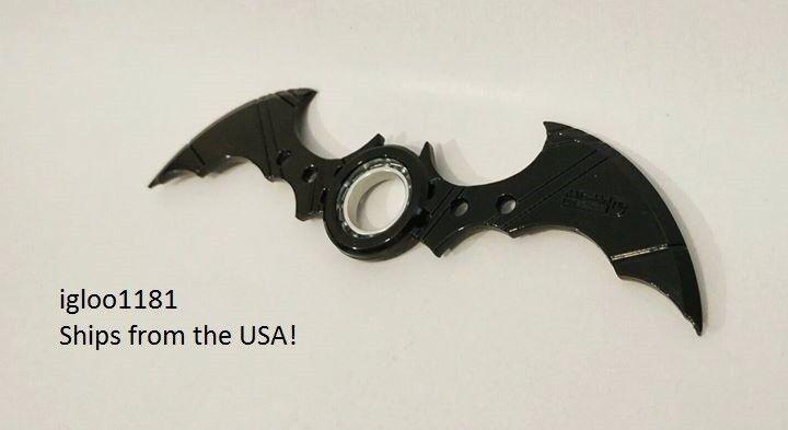 BULK 5- Batman Batarang Metal Fidget Spinner Ring Alloy Asymmetric Finger