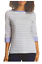 Nautica-Women-039-s-3-4-Cuffed-Sleeve-Chambray-Casual-Top-Large-Coral-White-Stripe thumbnail 5