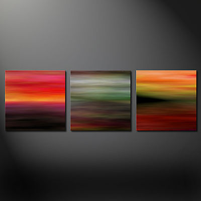 ABSTRACT MODERN DESIGN 3 PANELS BOX CANVAS PRINT PICTURE WALL ART FREE UK P&P