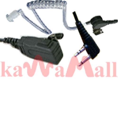 Acoustic tube Ear PTT Mic for COBRA MAXON ICOM Radio F