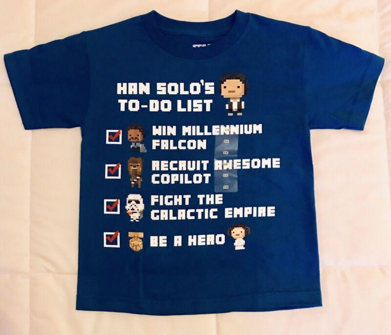 """Kids Boys Graphic Tee Shirt """"han Solo"""" Tshirt"""