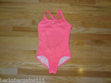 New NIKE Girls Youth Swimsuit Size 14 Large Pink One Piece NWT $40