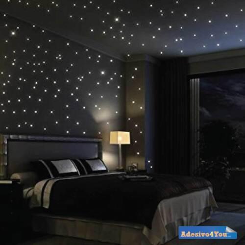 Adesivo murale Punti luce Pezzo luminoso fluorescente Cielo stellato Adesivo4You