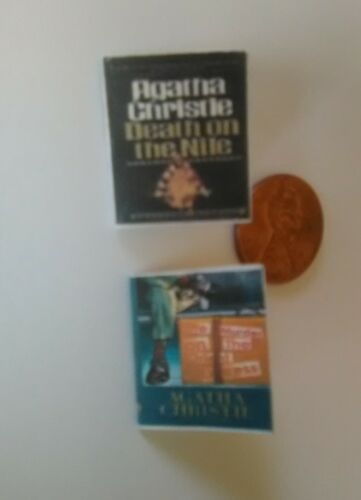 Agatha Christie Death on the Nile Murder on the Orient Express dollhouse books