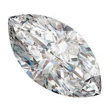 2 carat Russian Simulated MARQUISE CUT LAB Diamond WHITE (12 x 6 mm) (1 PC)