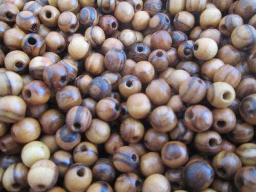 poli Top qualité Terre Sainte Olive Bois Tailles Diverses perles rondes