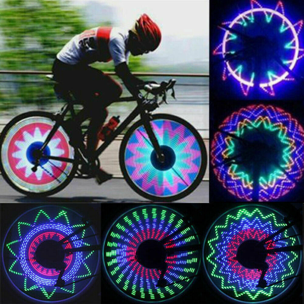 32LED 32 Modes Waterproof Bicycle Wheel Signal Tire Spoke Light Bike Riding Lamp